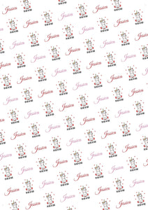Unicorn Personalized Valentine Gift Wrap - Potter's Printing