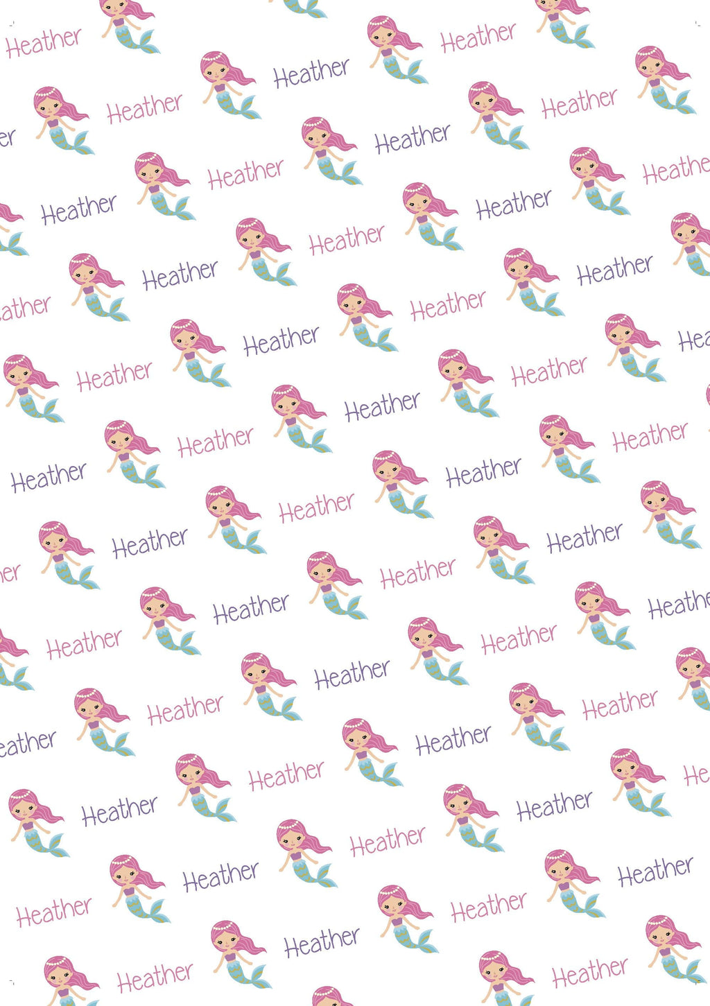 Mermaid Personalized Tissue Paper - Potter's Printing