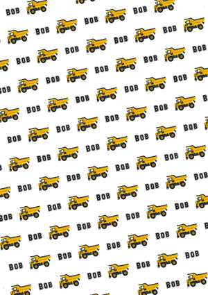 Dump Truck Personalized Gift Wrap - Potter's Printing