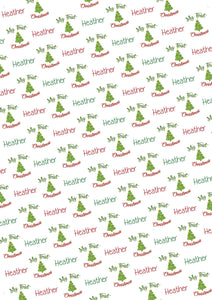 Baby's First Christmas Personalized Christmas Gift Wrap - Potter's Printing