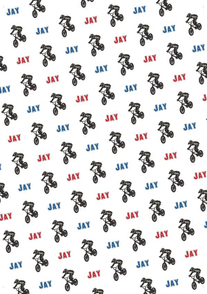 BMX Bike Personalized Gift Wrap - Potter's Printing