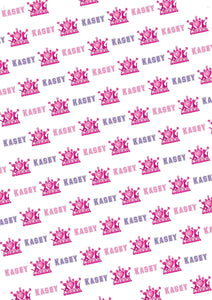 I Love Cheer Personalized Birthday Gift Wrap - Potter's Printing