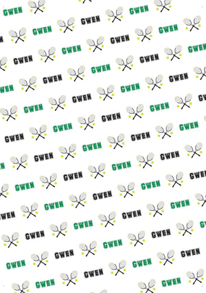 Tennis Personalized Birthday Gift Wrap - Potter's Printing