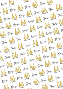 60th Birthday Aged to Perfection Personalized Birthday Gift Wrap - Potter's Printing