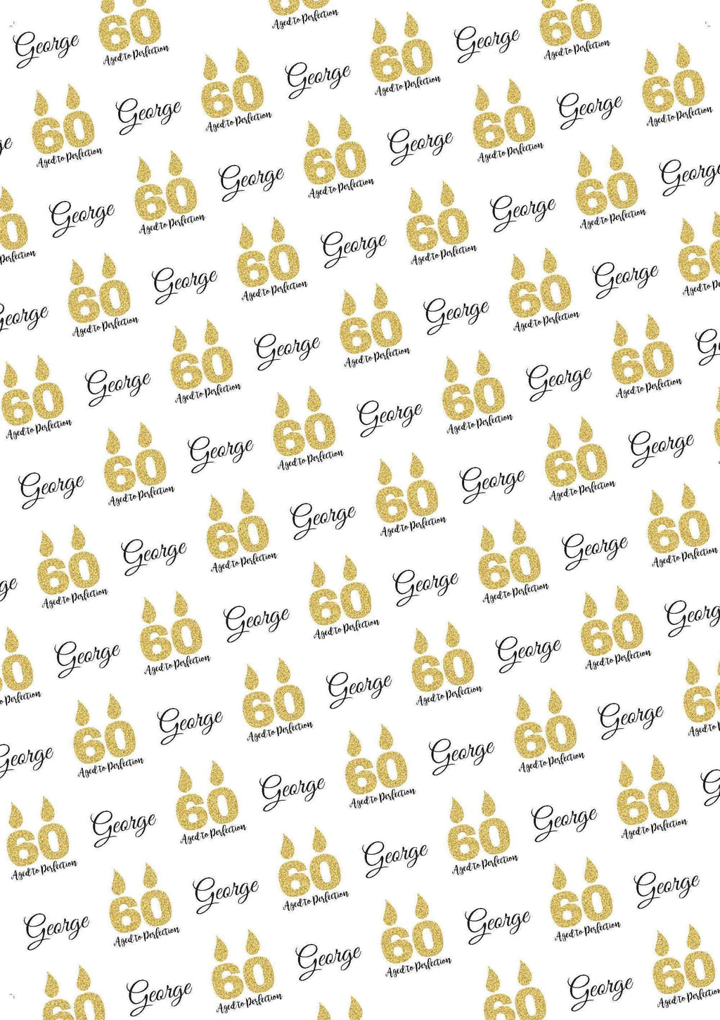 60th Birthday Aged to Perfection Personalized Birthday Tissue Paper - Potter's Printing