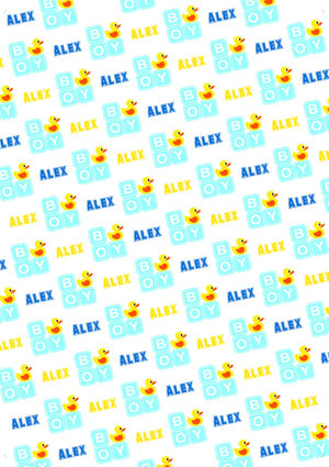Rubber Duck Boy Personalized Baby Shower Gift Wrap - Potter's Printing