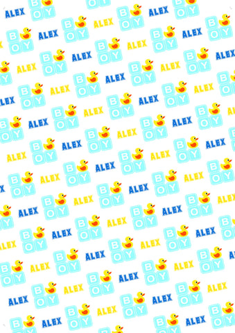 Pineapple Birthday Personalized Birthday Gift Wrap