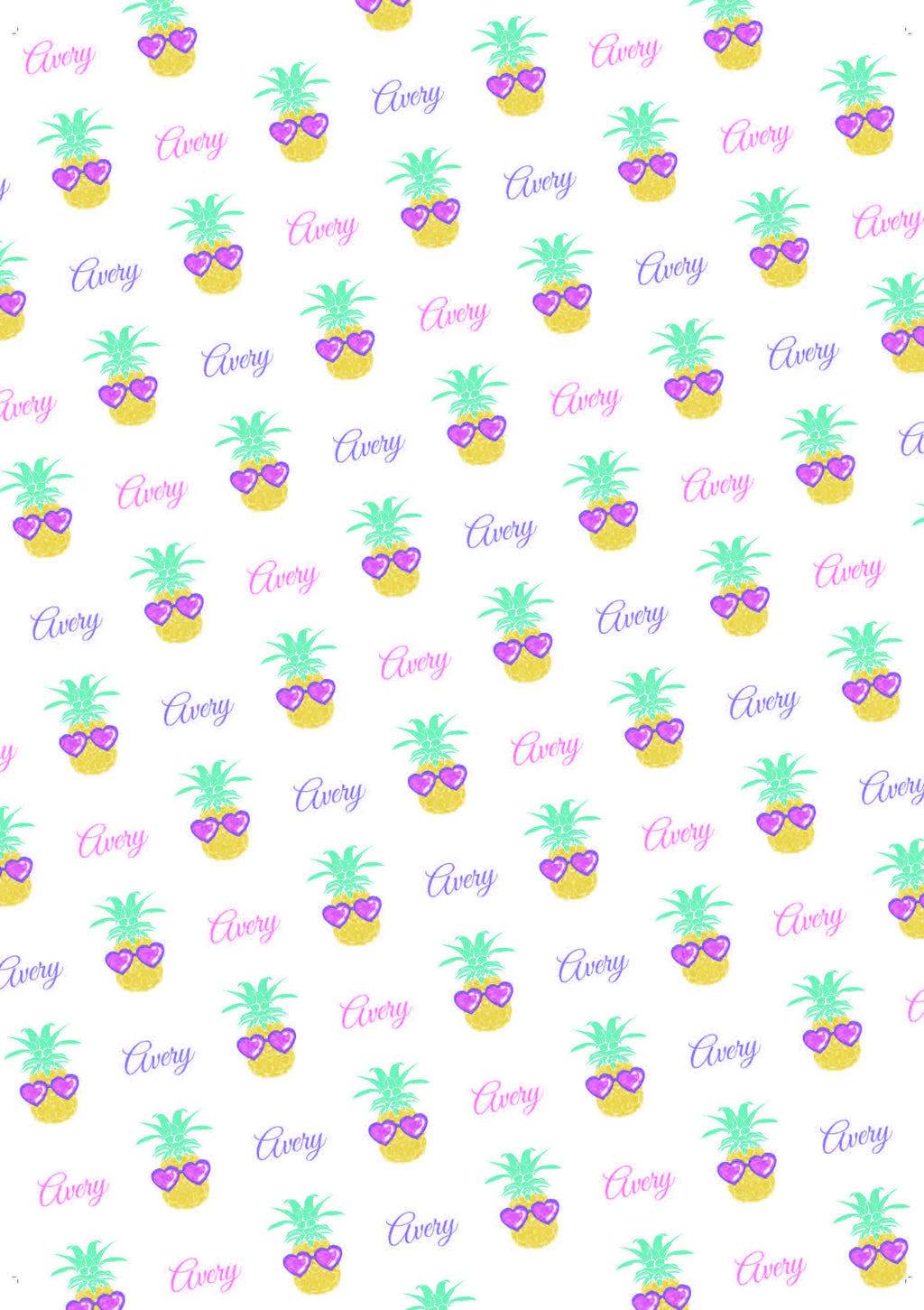 Pineapple Birthday Personalized Birthday Gift Wrap - Potter's Printing