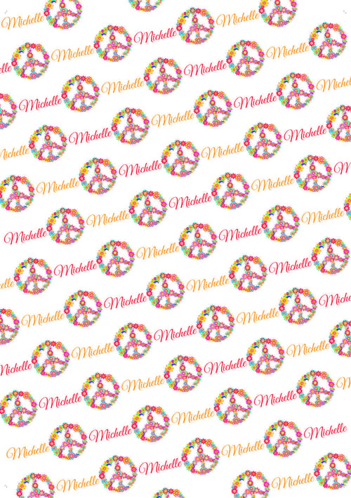 Peace Birthday Personalized Birthday Gift Wrap - Potter's Printing