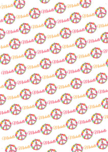 Peace Personalized Birthday Tissue Paper - Potter's Printing