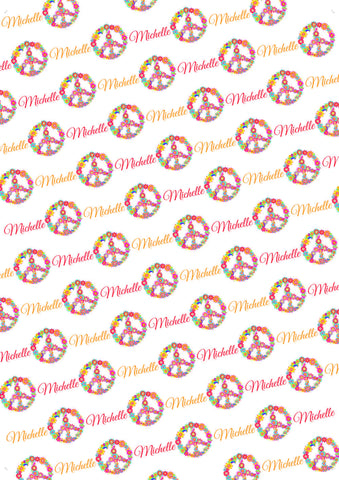 Peace Birthday Personalized Gift Wrap