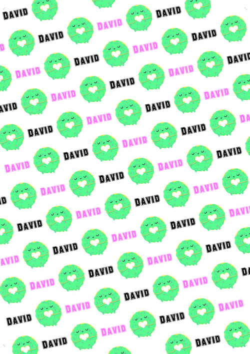 Donut Birthday Personalized Birthday Gift Wrap - Potter's Printing