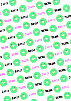 Donut Personalized Birthday Tissue Paper - Potter's Printing