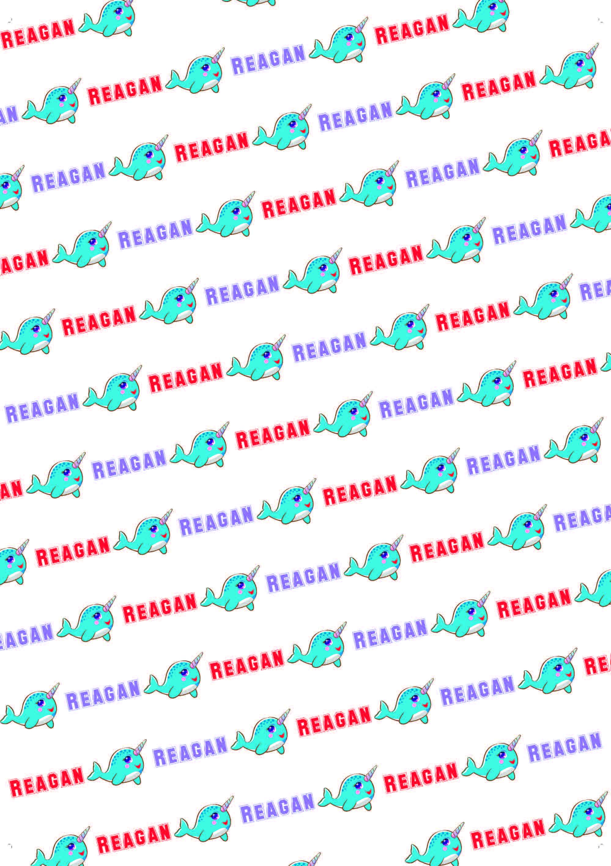 Narwhal Birthday Personalized Birthday Gift Wrap - Potter's Printing
