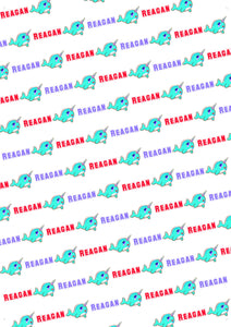 Narwhal Personalized Birthday Tissue Paper - Potter's Printing