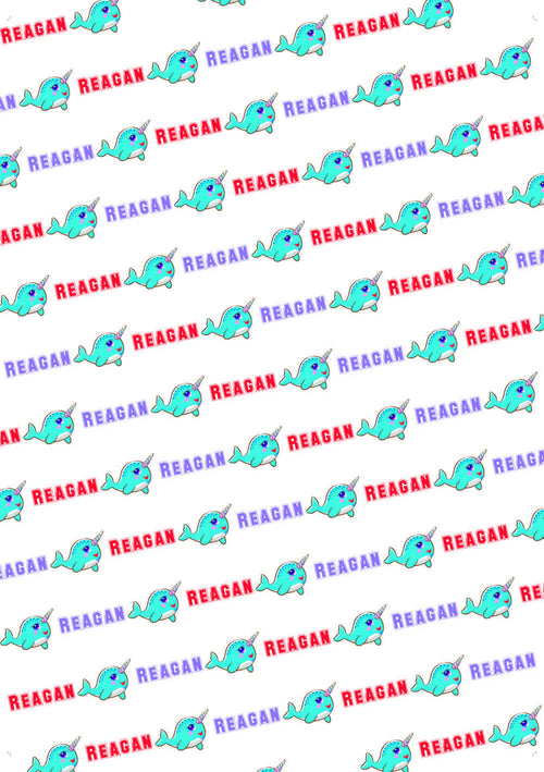 Narwhal Birthday Personalized Gift Wrap