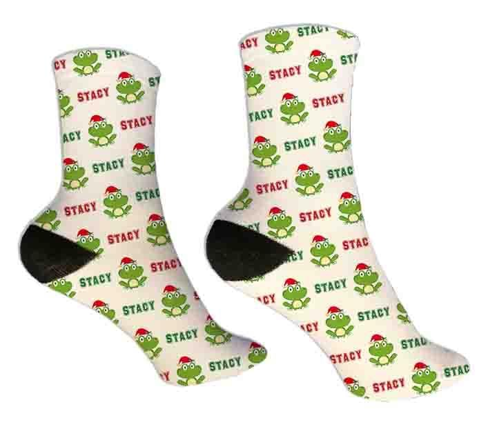 Frog Personalized Christmas Socks - Potter's Printing