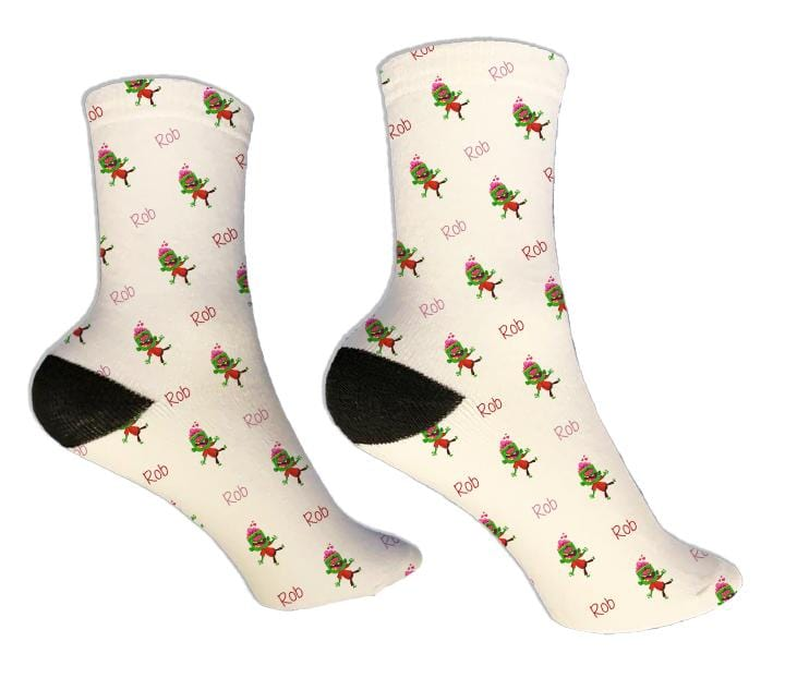Love Zombie Personalized Valentine Socks - Potter's Printing