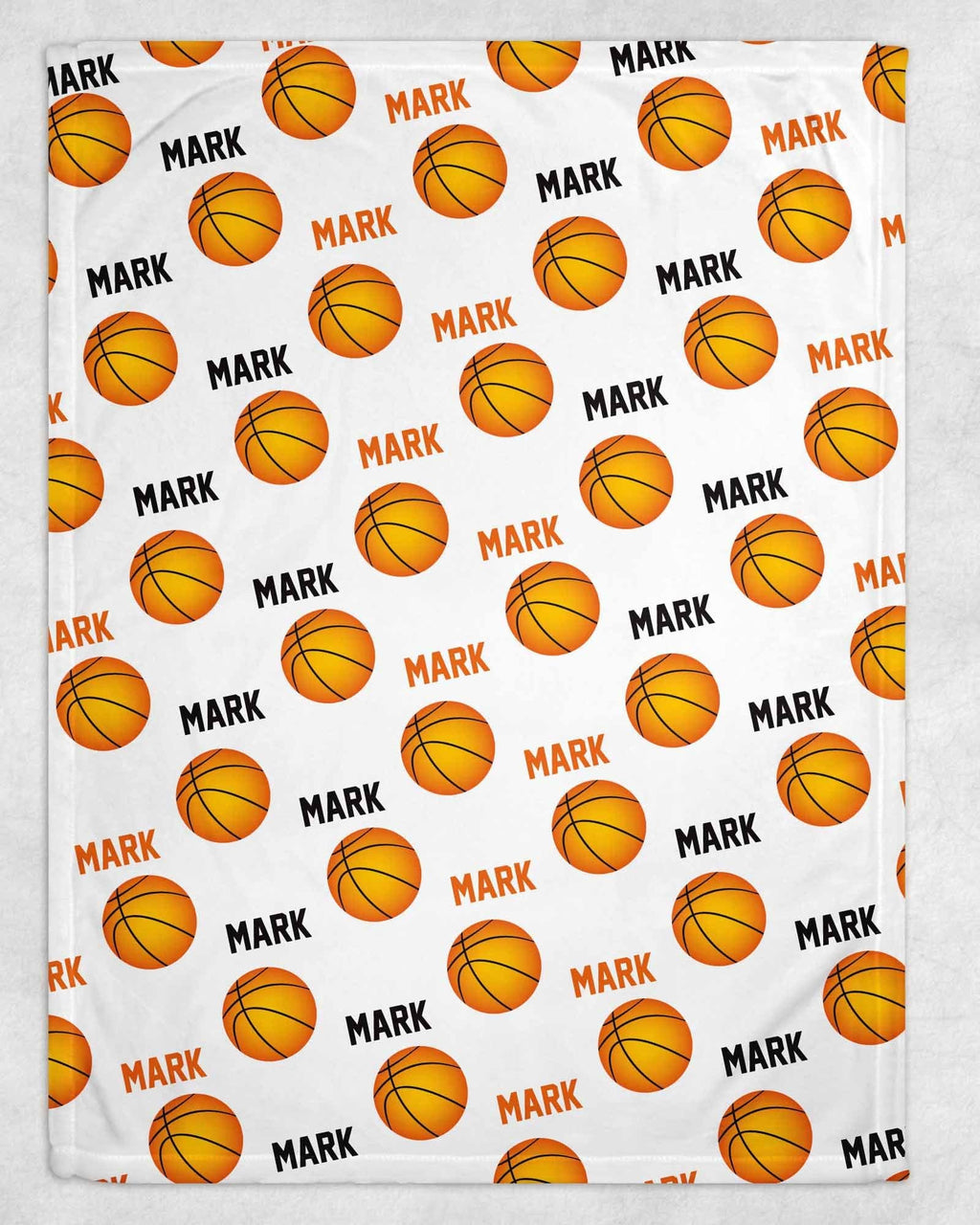 Basketball Personalized Blanket - Potter's Printing