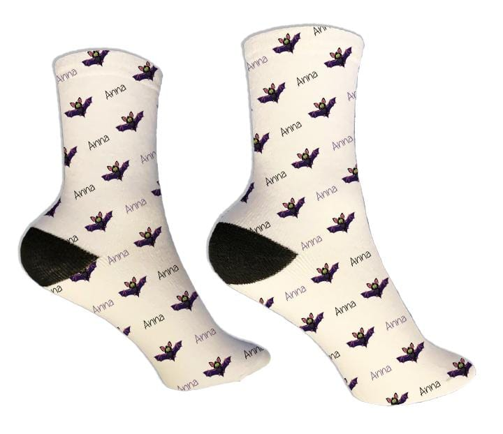 Bats Personalized Halloween Socks - Potter's Printing