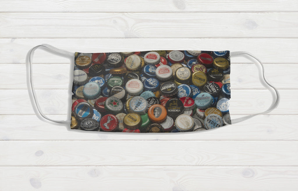 Beer Caps Face Mask - Potter's Printing