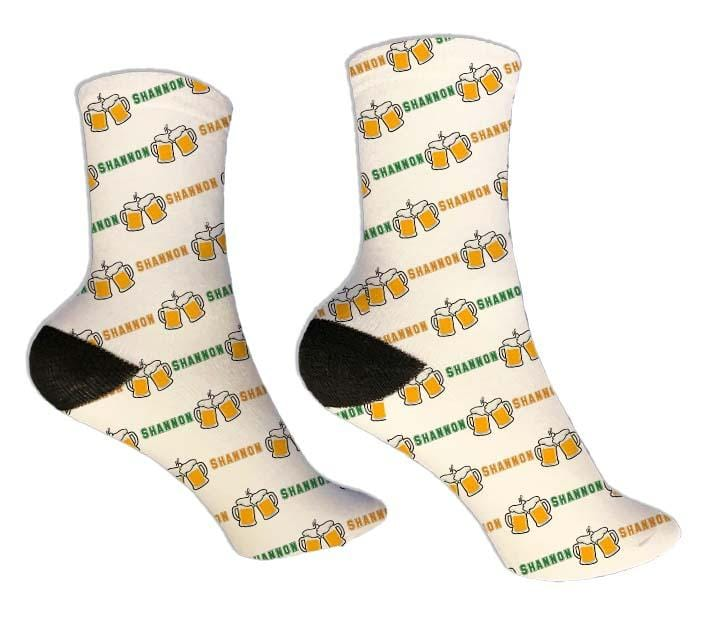 Beer Mug Personalized St. Patrick's Day Socks - Potter's Printing