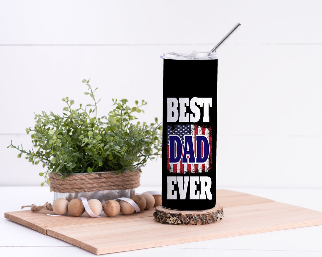 Best Dad Stainless Steel Tumbler - Potter's Printing