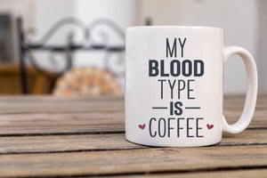 Blood Type Coffee Mug - Potter's Printing