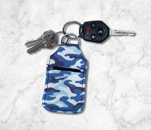 Blue Camo Hand Sanitizer Holder