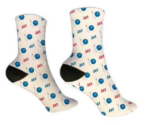 Bowling Personalized Socks - Potter's Printing