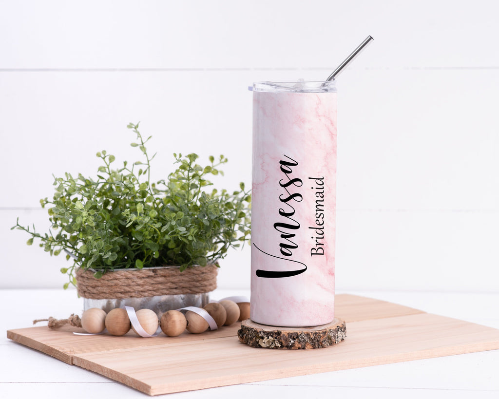 Bridesmaid Personalized Stainless Steel Tumbler - Potter's Printing