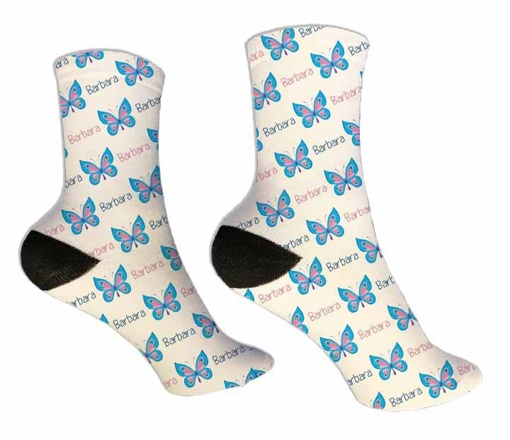 Butterflies Personalized Socks