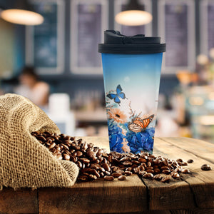 Butterflies Coffee Tumbler - Potter's Printing