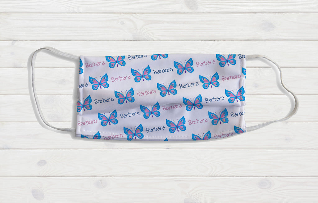 Butterflies Personalized Face Mask - Potter's Printing