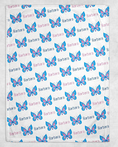 Butterfly Personalized Blanket