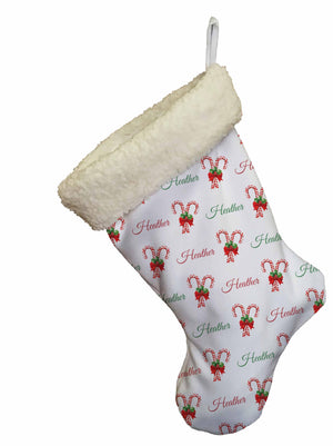 Candy Cane Christmas Stocking - Potter's Printing