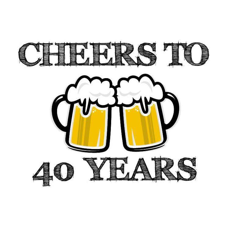 40th Birthday Cheers Personalized Birthday Tissue Paper - Potter's Printing