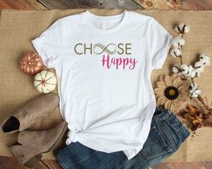 Graphic TEE Choose Happy - Potter's Printing