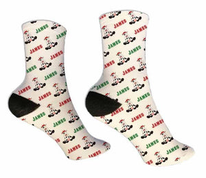 Christmas Cow Personalized Socks - Potter's Printing