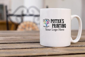 Custom Logo Coffee Mug - Potter's Printing