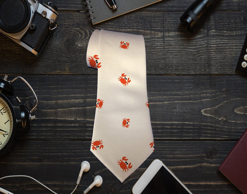 Crab_Neck Tie - Potter's Printing