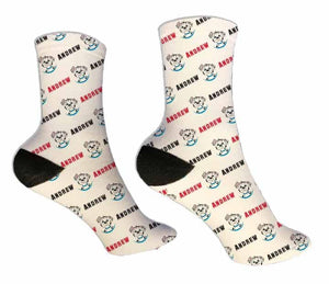 Dalmatian Personalized Socks - Potter's Printing