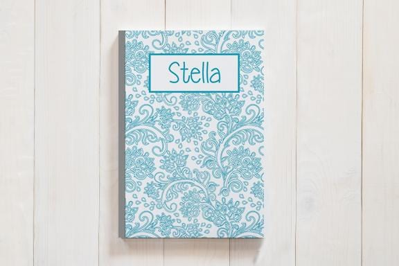 Personalized Damask Journal