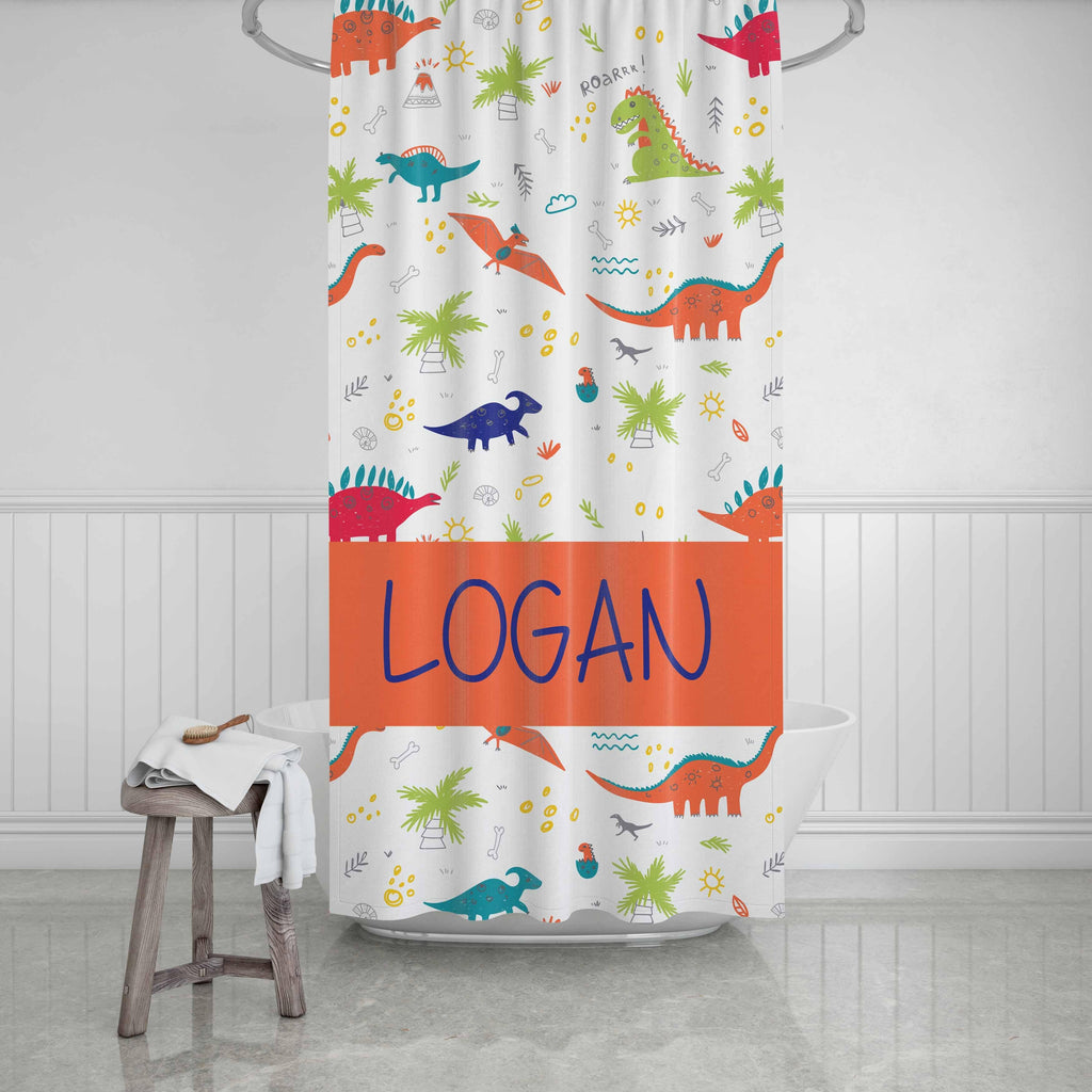 Dinosaur Shower Curtain - Potter's Printing
