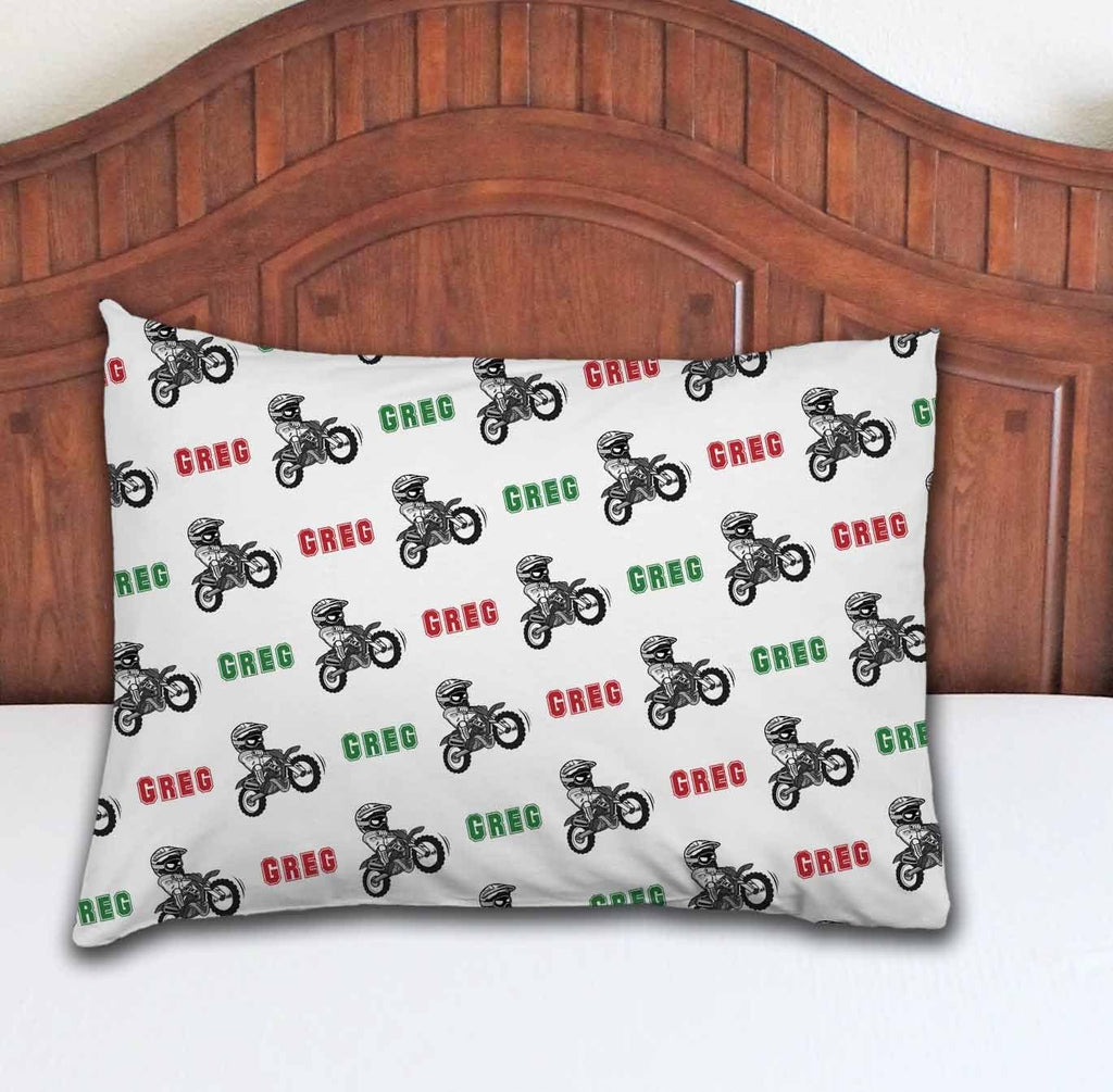 Dirt Bike Personalized Pillowcase - Potter's Printing