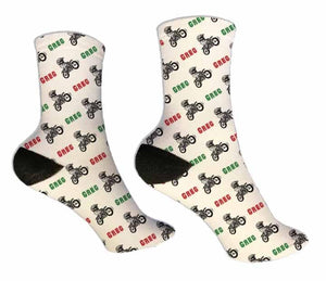 Dirt Bike Personalized Socks - Potter's Printing