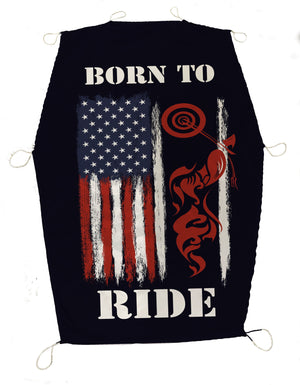 Born to Ride Motorcylce Flag Cycle SunShade - Potter's Printing