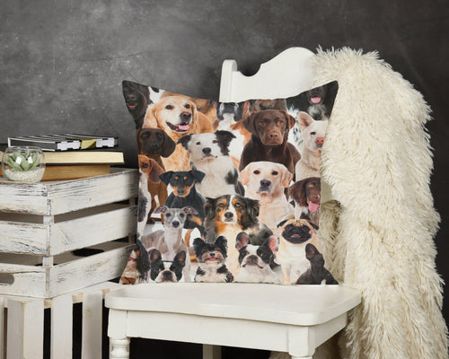 Dogs Throw Pillow - Potter's Printing
