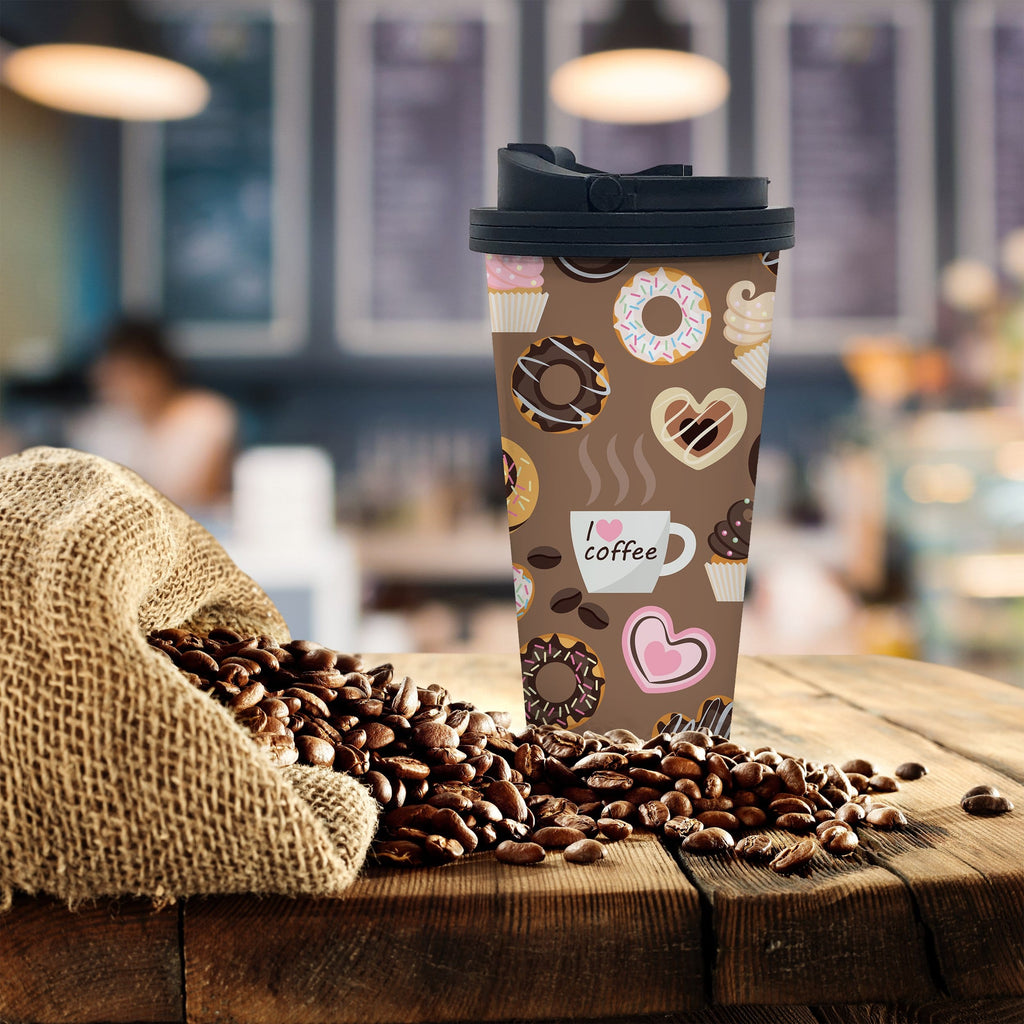 Donuts Coffee Tumbler - Potter's Printing