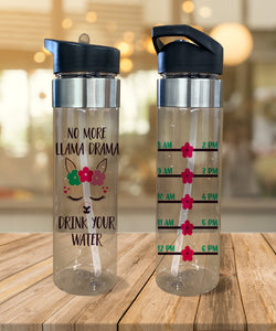 Water Bottle No More LLama Drama - Potter's Printing